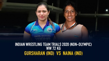 Indian Wrestling Team Trials 2020 (NON-OLYMPIC) – WW 72 kg Final – Gursharan vs Naina