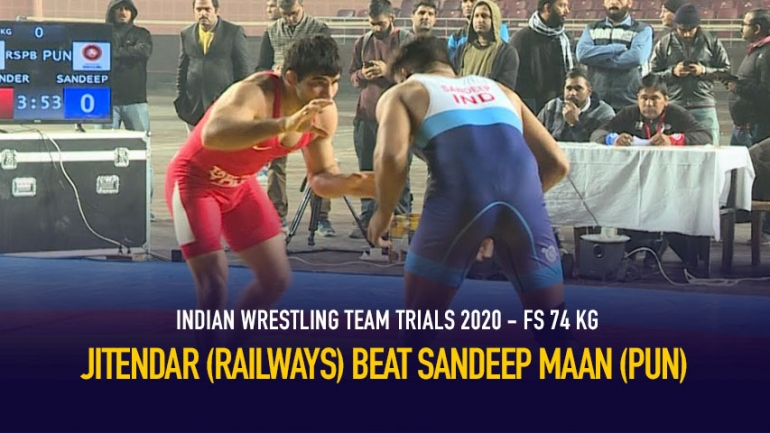 Indian Wrestling Team Trials 2020 FS 74 KG – Jitendar vs Sandeep maan