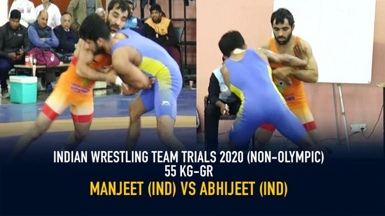 Indian Wrestling Team Trials 2020 (NON-OLYMPIC) GR 55 KG – Abhijeet vs Manjeet
