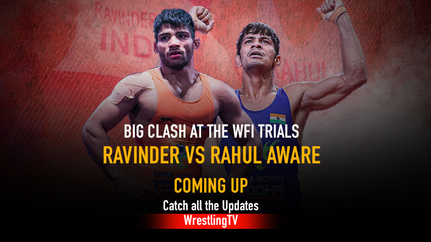 Big Clash at the WFI Trials – Ravinder vs Rahul Aware Catch all the updates only on WrestlingTV