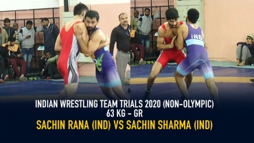 Indian Wrestling Team Trials 2020 (NON-OLYMPIC) GR 63 KG – Sachin Rana VS  Sachin Sharma