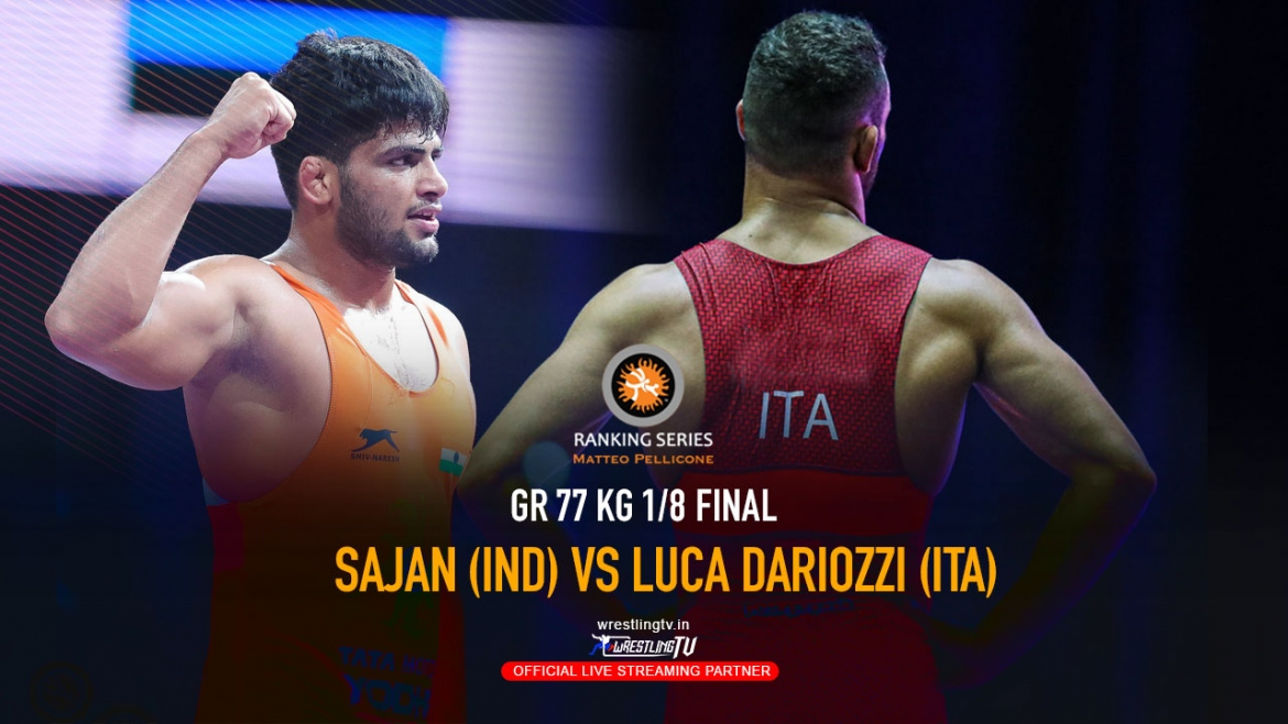 Sajan defeated Luca Dariozzi of Italy 8-0 to make it to the quarterfinals – Rome Ranking Series 2020