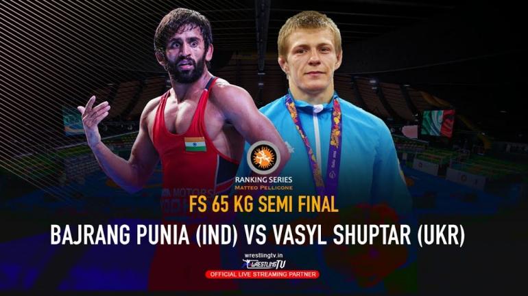 Watch Bajrang Punia Semi-Final Bout – Rome Ranking Series 2020