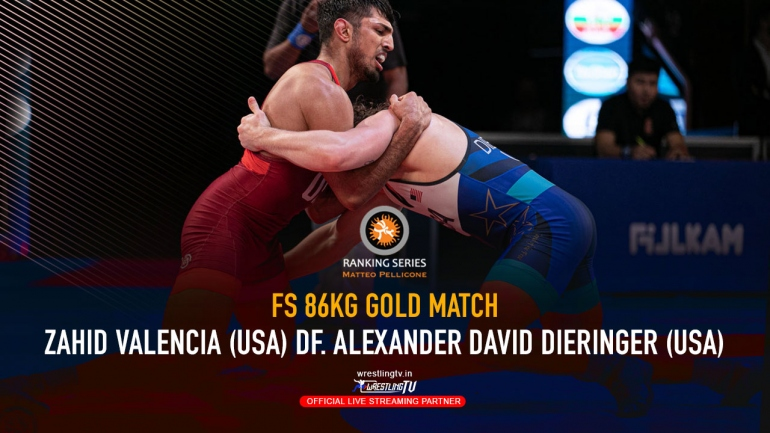 Watch Gold Match FS 86KG – Zahid VALENCIA (USA) df. Alexander David DIERINGER (USA)