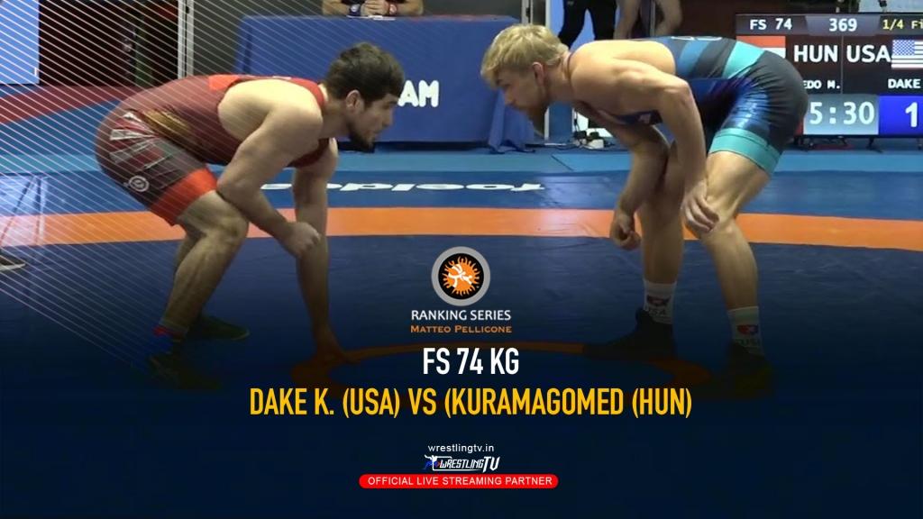 Watch Kyle Dake Quarterfinal match - Rome Ranking Series 2020