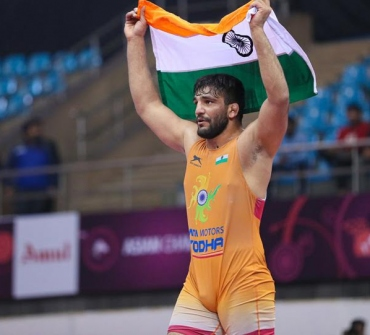 Sunil jumps into top 5 in UWW rankings with Asian Championships gold