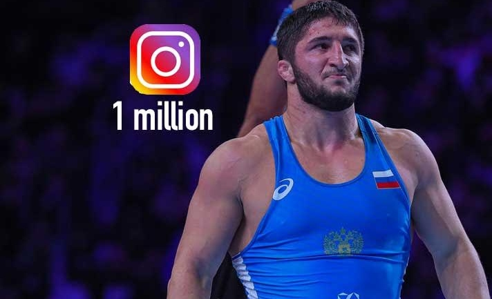 Olympic Champion in wrestling Abdulrashid Sadulaev reach 1 million followers on Instagram