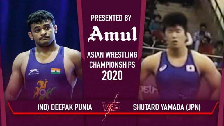Watch Deepak Punia Semi-Final Bout – Asian Wrestling Championships 2020 Day 6