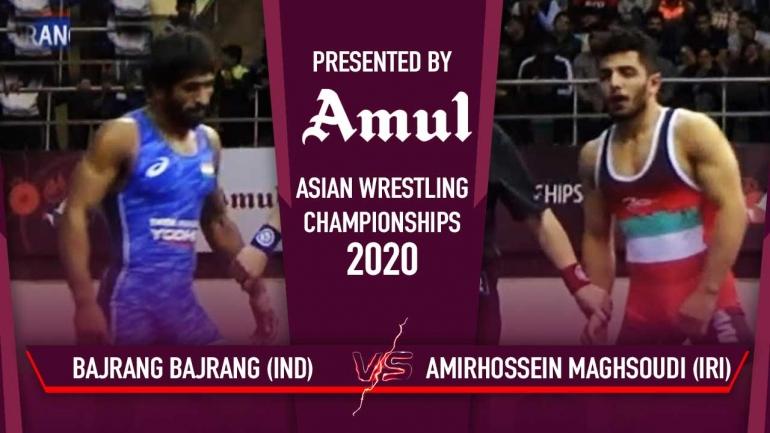 Watch Bajrang Semi-Final Bout – Asian Wrestling Championships 2020 Day 5