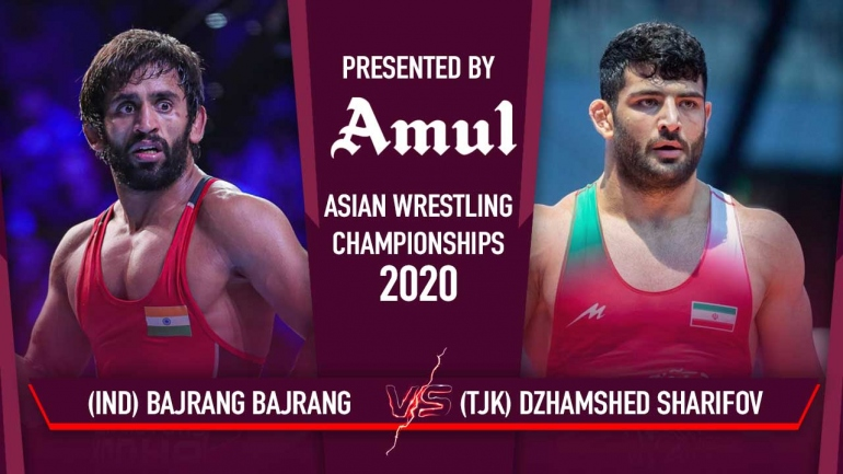 Asian Wrestling Championships 2020 Day 5- Watch Bajrang Punia Qualification Bout