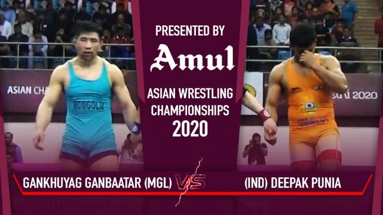 Asian Wrestling Championships 2020 Day 6- Deepak Punia enters Semi-Final – watch the bout