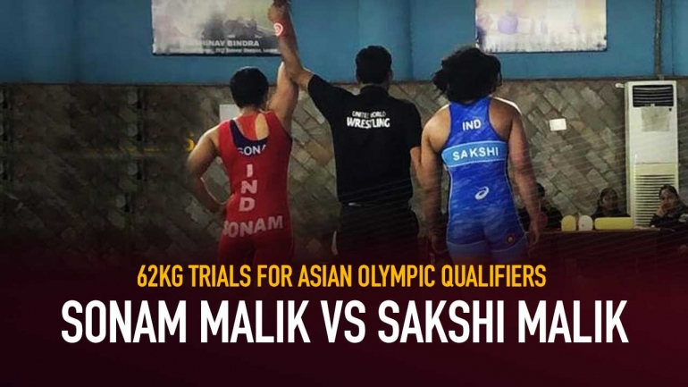 62kg Trials for Asian Olympic Qualifiers: Sonam Malik vs Sakshi Malik