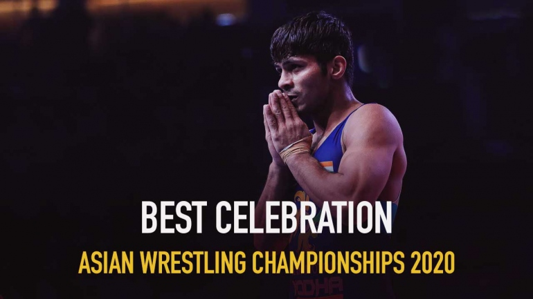 Watch Best celebration of Asian Wrestling Championships 2020
