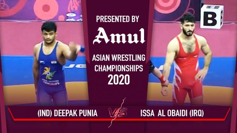Watch Deepak Punia Aware Bronze Medal Match – Asian Wrestling Championships 2020 Day 6