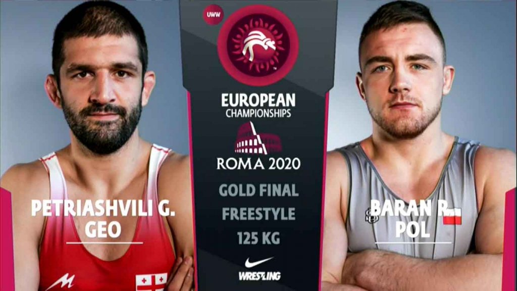 Watch European Wrestling Championship Final FS 125kg - Geno PETRIASHVILI (GEO) vs Robert BARAN (POL)