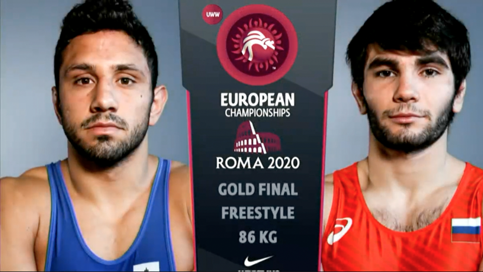 Watch European Wrestling Championship Final FS 86 kg