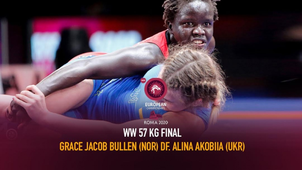 Watch European Wrestling Championship Final WW 57kg - Grace Jacob BULLEN (NOR) df. Alina AKOBIIA (UKR)