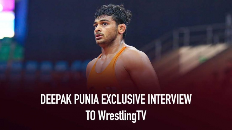Deepak Punia exclusive interview to WrestlingTV