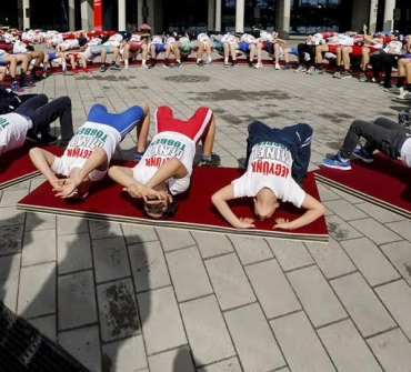 Coronavirus scare notwithstanding, Hungarian Wrestling Federation organizes flashmob to promote European Olympic Qualifiers