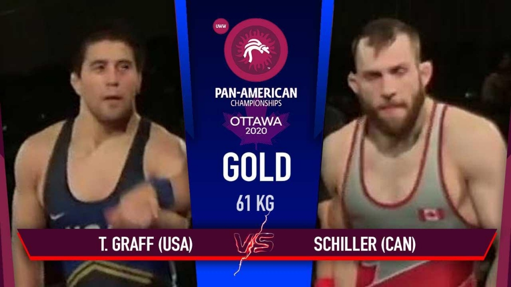 Pan American Championships 2020- FS 61 kg Gold Medal Match - Tyler Lee (USA) vs Scott Anthony (CAN)