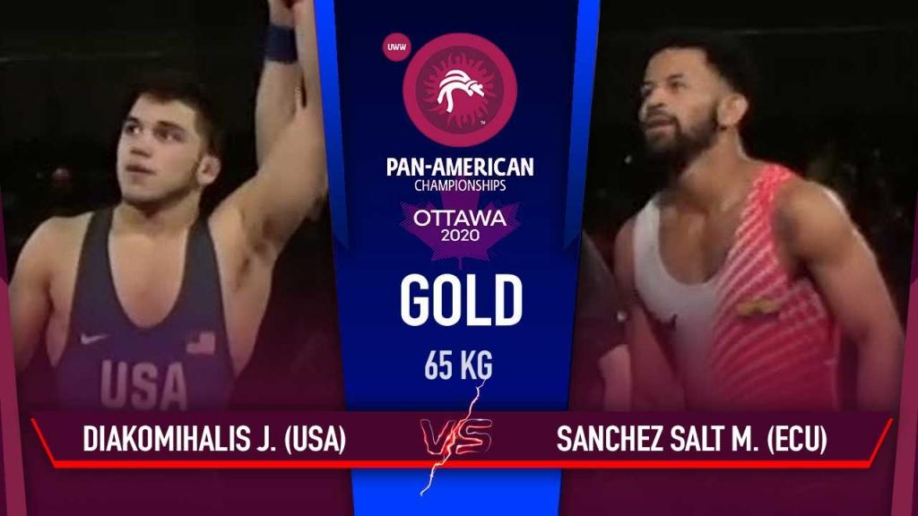Pan American Championships 2020 FS 65kg Gold Medal Match John Michael (USA) vs Mauricio Javier (ECU)