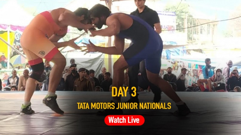 Tata Motors Junior National Wrestling Championship Day 3 LIVE: 8 freestyle weight categories to fight it out at Mandi