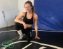 Sarah Hildebrandt turns garage into Olympic Training Centre; See pic