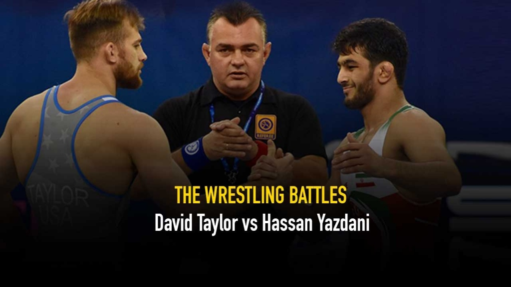 The Wrestling Battles,David Taylor,Hassan Yazdani,David Taylor Videos,Wrestling News India
