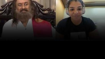ओलिंपिक मेडलिस्ट साक्षी मलिक को गुरु रवि शंकर से मिला अपनी चुनौतियों से पार पाने का मूलमंत्र