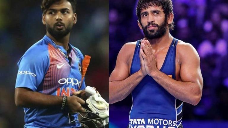Bajrang Punia, Rishabh Pant awarded best player of year