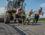 Social Room: Ex-World champ Frank Staebler boasts superhuman strength, pulls 12 ton combine harvester