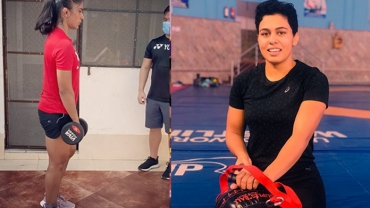 Training for hours, jogging and cracking jokes: Women wrestlers resume training excitedly