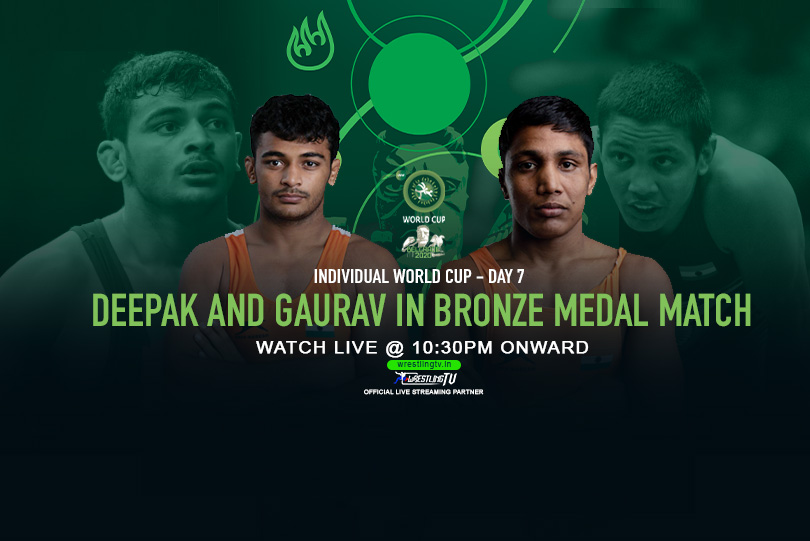 Individual World Cup Day 7: Deepak Punia and Gaurav Baliyan in bronze medal match, Watch LIVE @10:30 PM Onwards