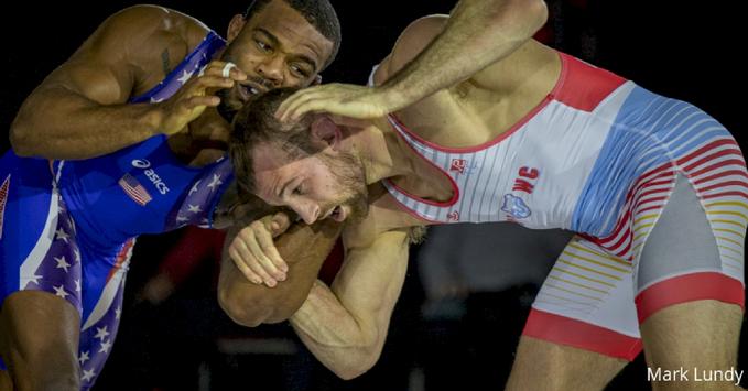 Clash of Champions: Olympic champion Jordan Burroughs falls to World No.1 David Taylor 4-4 on criteria