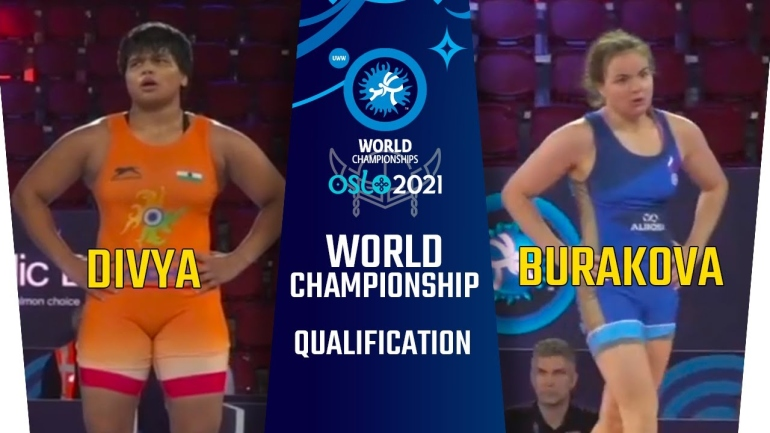 World Championships 2021: WW 76kg, Divya (IND) vs Kseniia BURAKOVA (RWF)
