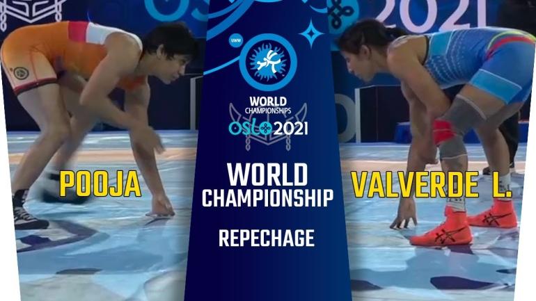 World Championships 2021: WW 53kg, Pooja (IND) vs Valverde L. (ECU)